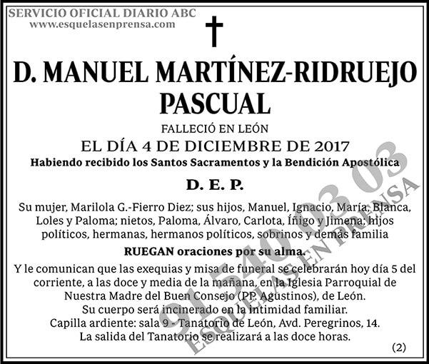 Manuel Martínez-Ridruejo Pascual